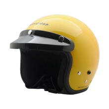 Cargloss Retro Helm Half Face - Exotic Yellow Glossy