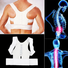Magnetic Posture Support Corrector Body Back Belt Brace Shoulder Release Pain