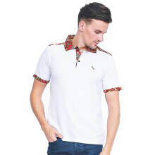 ALINSKIE BROTHERS Mens Polo Shirt Classic Pocket Carnelian A1002 - White