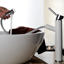 LANGFAN J4802 Hair Salon Wash Basin Pull Out Bathroom Hot & Cold Water Faucet