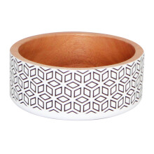 VIVERE Deco Bowl Hexagon White Black