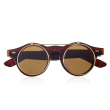 Hot Fashion Goggles Glasses Retro Flip Up Round Sunglasses Vintage