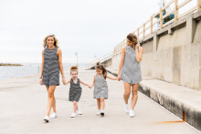 Family Matching Outfits Mon and kids Clothes Mother Siamese culottes