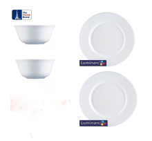 LUMINARC Everyday Bowl / Everyday Dinner Plate set of 4 - 12cm / 24cm