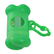 Bone Shape Dog Poop Bag Dispenser with Carabiner Clip