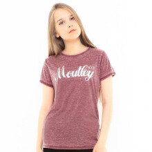 MOUTLEY Girls Basic Street Tee - Red