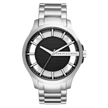 Armani Exchange Black Skeleton Dial Stainless Steel Watch [AX2179] Silver