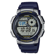 Casio AE-1000W-2AVDF - 10 Year Battery - Water Resistance 100M - Blue Resin Band [AE-1000W-2AVDF] Blue