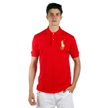 POLO RALPH LAUREN - Mesh Polo Shirt Lacoste Red Men