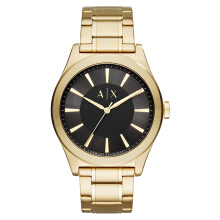 Armani Exchange Black Dial Gold-tone Stainless Steel Watch [AX2328]