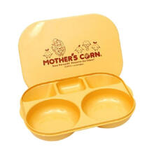 Mother's Corn Meal Plate with Lid Peralatan Makan - Yellow