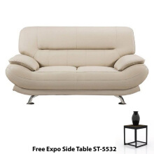 Ivaro - Sofa Vancy 2 Seater Cream - FREE Side Table ST-5532