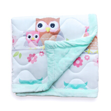 PILLOW PEOPLE Blanket / Selimut Baby Owl - Green / 120x150