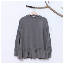 ZAHA INDONESIA Nourah Blouse Dark Grey L