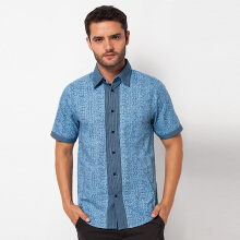 A&D MS 712 Mens Shirt Short Sleeve - Blue