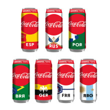 COCA COLA Can 330ml - Random FIFA World Cup & Original