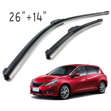 PAO MOTORING For All-Season Performance Front Pair 26 Inch + 14 Inch Wiper Blade J-Hook All Season OEM Car Window Windshield