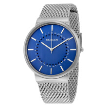 Skagen Ancher Blue Dial Stainless Steel Mesh Bracelet Watch [SKW6234] Silver