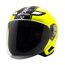 Cargloss Former Flo Helm Half Face - Yellow Black