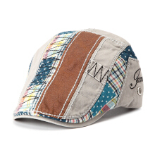 Men Women Cotton Washed Beret Hat Buckle Adjustable Paper Boy Newsboy Cabbie Golf Gentleman Cap