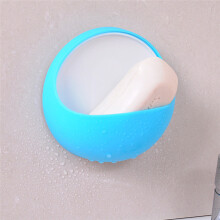 BESSKY Plastic Suction Cup Soap Toothbrush Box Dish Holder Bathroom Shower Accessory_