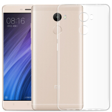 Luanke TPU Soft Case Protective Cover Phone Protector for Xiaomi Redmi 4 Standard Edition Transparent