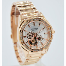 Balmer  Shappire Crystal Stainless Steel Chain Ladies B.7981LR-2180D37RG Small Second Rosegold Gold