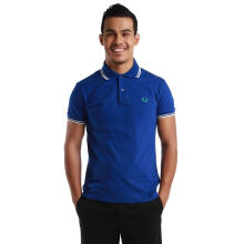 Fredperry Men- Electric Blue Polo with White Tipped XS
