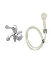 YUTA Kran Double Tap TDOZ dan Shower Set SHO (Ivory)