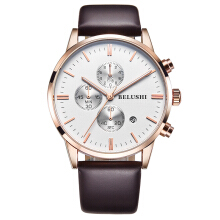 BELUSHI Leather Strap Quartz Watch MF523