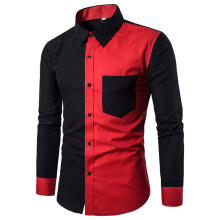 BESSKY Mens Fashion Casual Slim Fit Stylish Shirts Long Sleeve Shirt Blouse_