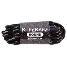 KIPZKAPZ RS25 Round Shoelace - Black Grey [4mm]