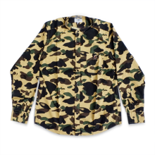 Bape Shirt Yellow Camo