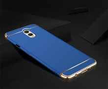 JEREFISH Samsung Galaxy J7 Plus Case Matte Metal 3 in 1 Electroplate Frame Cover for Galaxy J7 Plus Case