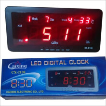 Jam Dinding Digital CX2158 LED Merah