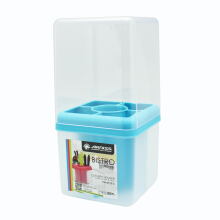 ARNISS Cutlery HolDEr (With Cover) Bistro CH-0115C - Blue