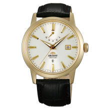 Orient Classic Automatic White Dial Leather Strap [FFD0J002W] Black