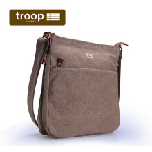 Troop London Classic Cross Body Bag TRP0237 Brown