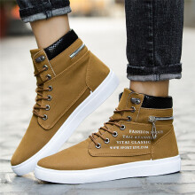 BESSKY Fashion Mens Lace-Up Snake Suede Mixed Shoes Casual Shoes Sneakers Shoes _