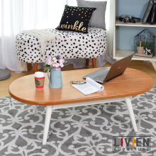 Meja Tamu / Oval Livingroom Table Maple - LIVIEN FURNITURE