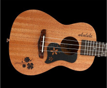 BWS 23 inch Solid Top Only Sapele Panel Rosewood Concert Ukulele Fingerboard Hawaiian Guitar B-28 Yellow