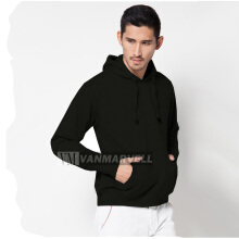 VM Jaket Hoodie Jumper Polos Korean Fleece Hitam