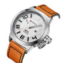 PEKY Watch Men Top Brand Fashion Casual Business Quartz Watch Leather Men Clock Waterproof Relogio 8270