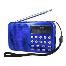 Vinmori Mini Portable 50mm Internal Magnetic LED Stereo FM Radio Speaker USB Port TF Card MP3 Music Player