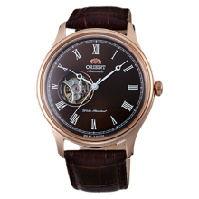 Orient Classic Semi Skeleton Men Dark Brown Dial Dark Brown Leather Strap [FAG00001T]