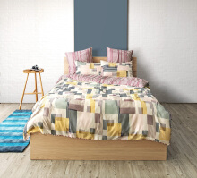 ESPRIT Sprei Set Super King - Digital Block  / 200x200x36cm