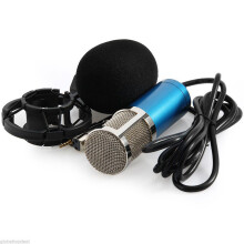 BESSKY Condenser Pro Audio BM800 Microphone Sound Studio Dynamic Mic +Shock Mount_