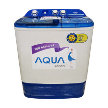 AQUA Washing Machine Semi Auto Washer QW770XT - White [7 Kg]