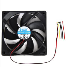 BESSKY 1pcs 120mm 120x25mm 12V 4Pin DC Brushless PC Computer Case Cooling Fan 1800PRM_ Black