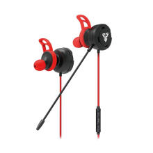Fantech Earphone Headset Gaming WITH MIC EG-1 Red Black
